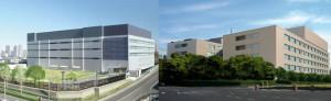 PCI DSS に準拠した、横浜データセンター(左)と横浜港北データセンター(右)
